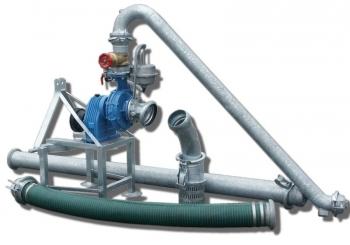 Pompownia T1200SP służy do zasilania w wodę systemów nawodnień upraw warzywniczych, szkółkarskich, sadowniczych, itp.