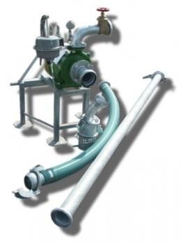 Pompownia T1-40 służy do pompowania wody z ujęć powierzchniowych takich jak rzeki, jeziora, stawy do wszelkich systemów nawadniających.