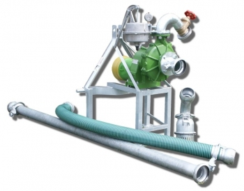 Pompownia T2-40 służy do pompowania wody z ujęć powierzchniowych takich jak rzeki, jeziora, stawy do wszelkich systemów nawadniających.
