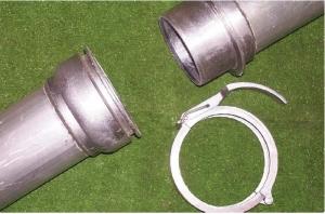 Rura przelotowa aluminiowa z szybkozłączami HP