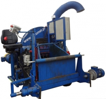 Zestaw do likwidacji upraw szklarniowych z rozdrabniaczem o napędzie elektrycznym