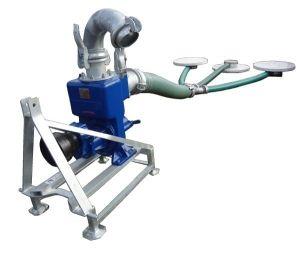 Pompownia ciągnikowa PS-150/C1 przeznaczona jest do pompowania wody i innych cieczy zarówno czystych jak i zanieczyszczonych ciałami stałymi o średnicy nie większej jak 30 mm.