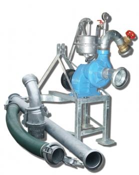 Pompownia T600 służy do pompowania wody z ujęć powierzchniowych takich jak stawy, jeziora, rzeki, zbiorniki retencyjne a nawet studnie, w których lustro wody podczas pompowania nie opadnie poniżej 6 m od wlotu pompy.