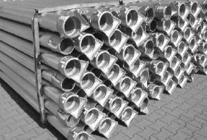 Rura przelotowa aluminiowa z  szybkozłączami hakowymi ESP