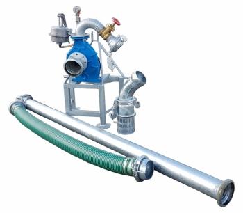 Pompownia T800SP służy do zasilania w wodę systemów nawodnień upraw warzywniczych, szkółkarskich, sadowniczych, itp.