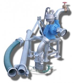 Pompownia T800 służy do zasilania w wodę systemów nawodnień upraw warzywniczych, szkółkarskich, sadowniczych, itp.