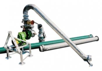 Pompownia T4-125G służy do zasilania w wodę systemów nawodnień: wielkoobszarowych (do 120 ha) upraw rolniczych, warzywniczych, szkółkarskich, sadowniczych, łąk, pastwisk itp.